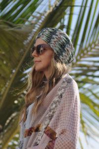 Turban – Grøn og beige mønster